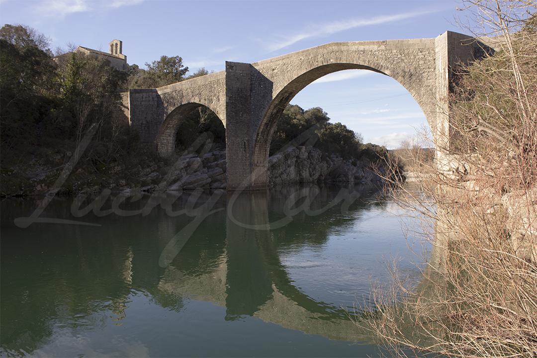Pont De Saint Etienne D Issensac Sur L Herault Languedoc Roussillon